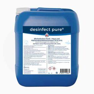 Handdesinfektions mittel kaufen – desinfect pure® ist ein Desinfektionsmittel für Hände, Haut & Flächen. Purethan Markenprodukt in Premium Qualität.